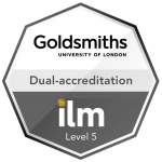 Goldsmiths - Dual Accreditation ILM Badge